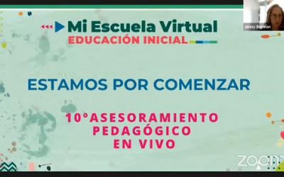 10mo Asesoramiento Pedagógico en Vivo Compartiendo experiencias en Mi Escuela Virtual