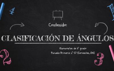 Clasificación de ángulos