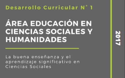 Desarrollo Curricular area Educación en Ciencias Sociales y Humanidades