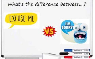 Excuse me vs I'm sorry