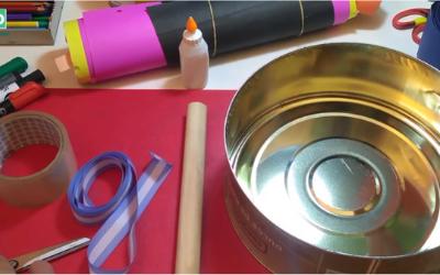 instrumentos de percusión caseros- tambor